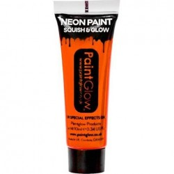 Neon Orange Face Paint Tube (10ml)