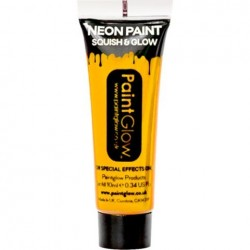 Neon Yellow Face Paint Tube (10ml)