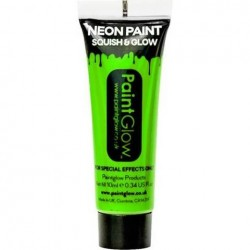 Neon Green Face Paint Tube (10ml)