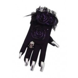 Gloves with long silver nails