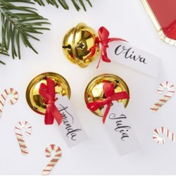 Gold Bell with Red Bow (pack of 6)