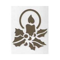 Christmas Candle Stencil | Christmas supplies