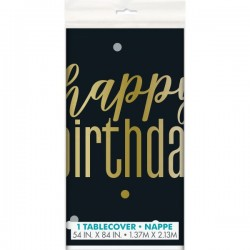 Happy Birthday Plastic Tablecloth (1.37m x 2.13m)