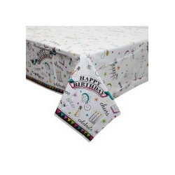 Doodle Birthday tablecloth | Party Supplies South Africa