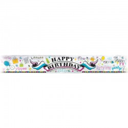 Doodle themed birthday banner| party supplies South Africa