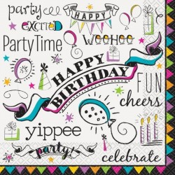 Doodle themed Serviettes | Party Supplies South Africa