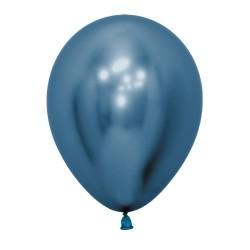 Chrome Reflex Blue Balloon 30cm