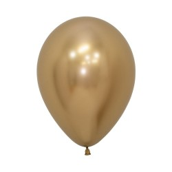 Chrome Reflex Gold Balloon 30cm