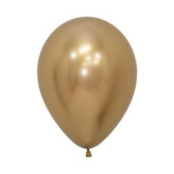 Chrome Reflex Gold Balloon 30cm