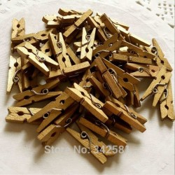 Gold Wooden Mini Pegs (pack of 30)
