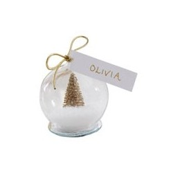 Place Cards Snow Globe - Gold Tree (pk/4)
