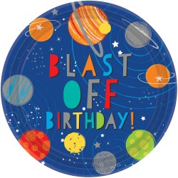 Blast Off Paper Plates (pack of 8)