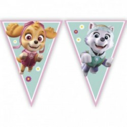 Paw Patrol Skye and Everest triangle flag banner