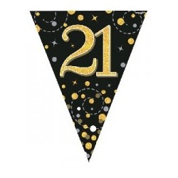 Sparkling Fizz 21st Birthday Flag Banner (3.9m)