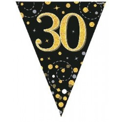 Sparkling Fizz 30th Birthday Flag Banner (3.9m)