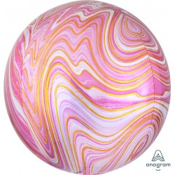 ORB: Pink Marble Foil Balloon