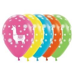 Llama Tropical Latex Balloons (Assorted) x1