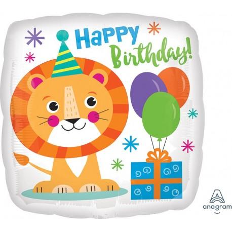 "18"" Lion Happy Birthday Foil Balloon"