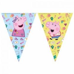 Peppa Pig triangle flag banner