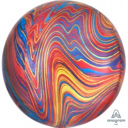 ORB: Colourful Marble Foil Balloon