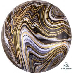 ORB: Blackl Marble Foil Balloon