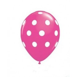 Cerise Polka Dot Balloon - South Africa