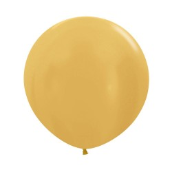 24 inch plain metallic gold balloon