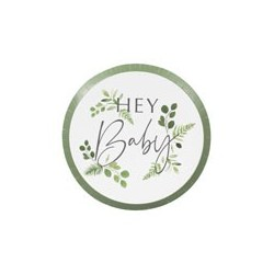 Botanical Baby party plates | Baby Shower party supplies