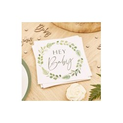 Botanical Baby paper serviettes | Baby Shower party supplies