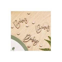 Botanical Baby Wooden Table Confetti| Baby Shower party supplies