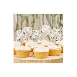 Botanical Baby - Cupcake Toppers| Baby Shower party supplies