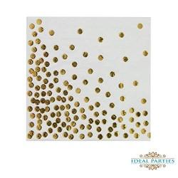 Gold polka dot serviettes