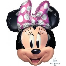 Minnie Forever Head SuperShape Foil Balloon