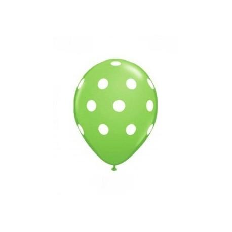 Lime Green Polka Dot Balloons