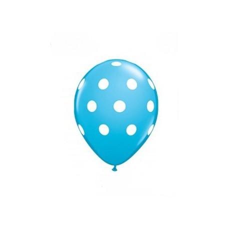 Light Blue Polka Dot Balloons