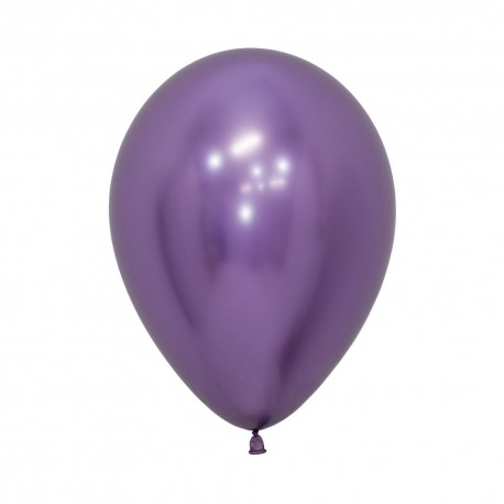 Chrome Reflex Violet Balloon 30cm