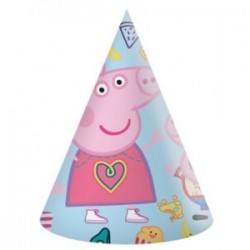 Peppa Pig party hats (pk/6)