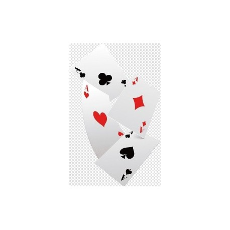 Mini playing cards confetti