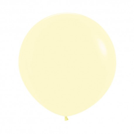 24 inch Pastel Yellow Balloon