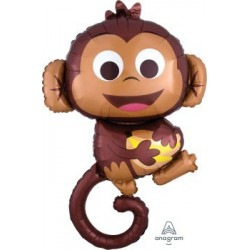 Happy Monkey Supershape Foil Balloon
