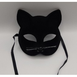Satin black cat mask | Halloween party supplies South Africa