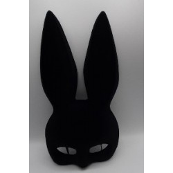 Satin black rabbit mask | Halloween party supplies South Africa