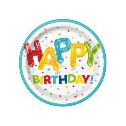 Happy Balloon Birthday plates | Party Supplies South Africa
