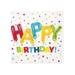 Happy Balloon Birthday serviettes | Party Supplies South Africa