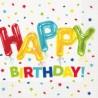 Happy Balloon Birthday Lunch Serviettes (pk/16)