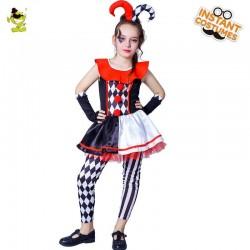 Halloween girls jester costume