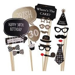 Cheers to 30 Photo Props (20 pcs)