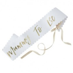 Oh Baby - Mom to be satin sash | Baby shower supplies South Africa