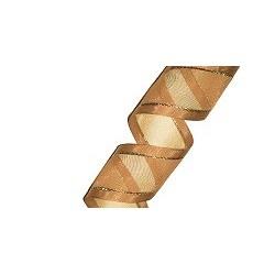 Organza Ribbon Toffee/Gold (15mm/20m)