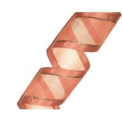 Organza Ribbon Rose Gold/Gold (15mm/20m)